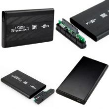 "BLACK EXTERNAL SATA 2.5"" HARD DRIVE ENCLOSURE"